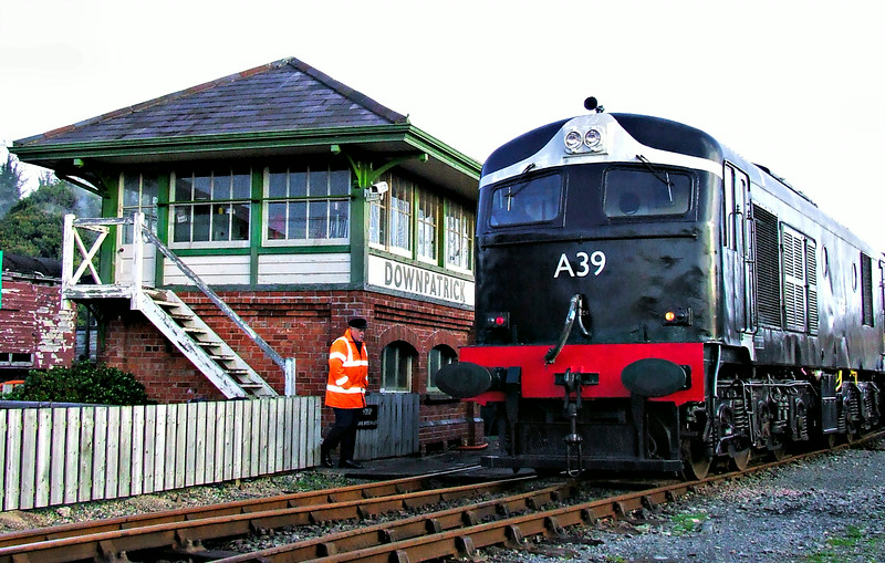 A39 at Downpatrick Signal cabin.<br /> Pictured by Michelle