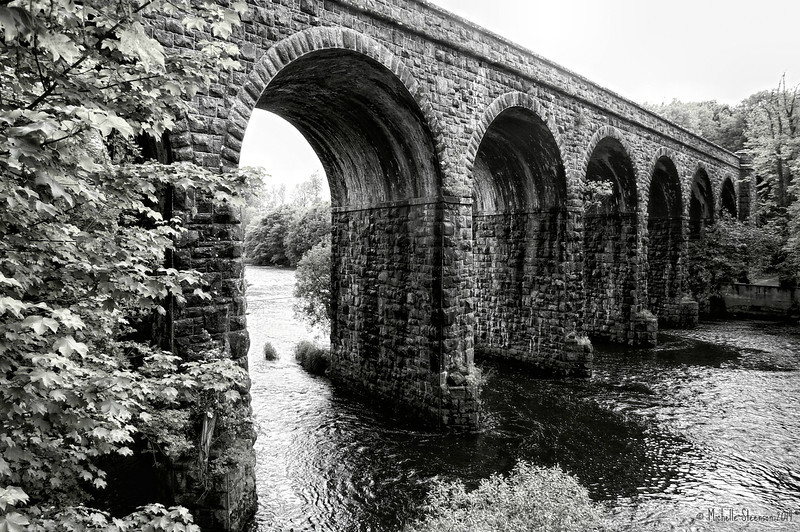 Railway viaduct over the River Maine<br /> Randalstown<br /> County Antrim<br /> 26th May 2014<br /> Pictured by Michelle