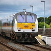 The cross-border Belfast - Dublin 'Enterprise' service seen here passing through Poyntzpass station in County Down.