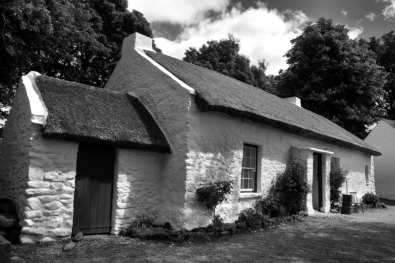 Old thatched cottage<br /> Omagh<br /> <br /> This is the childhood home of Thomas Mellon, born in the humble homestead in February 1813 - five years later Mellon's family emigrated to Pennsylvania, where he later started a legal and financial career.