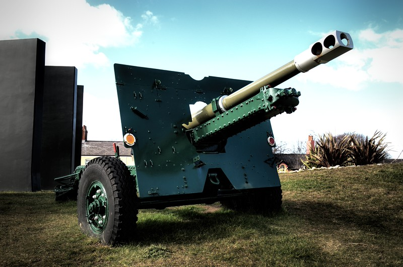25 Pounder Field Gun<br /> Carrickfergus<br /> County Antrim<br /> 27th March 2015
