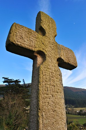 The Old Cross of Kilbroney. A ninth century inscribed cross in the Old Kilbroney Graveyard near Rostrevor in County Down. Pictured here on Monday, 14th March 2016