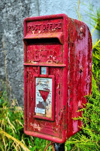 Royal Mail post box. Raholp, County Down.<br /> Friday, 29th July 2016.