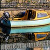 Pleasure boat, Killyleagh Harbour, County Down.