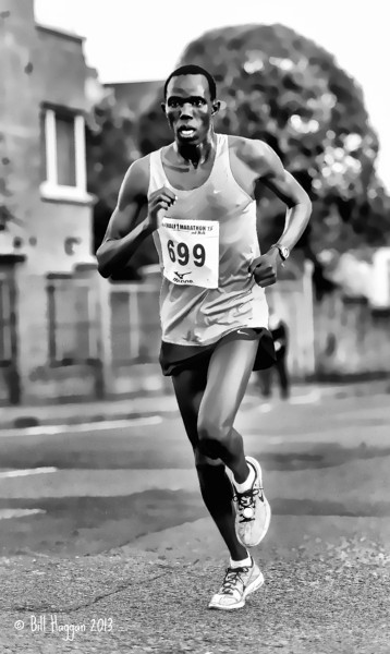 Marathon Runner. Ards half-marathon 2013. This has been finished with a watercolour painting effect.