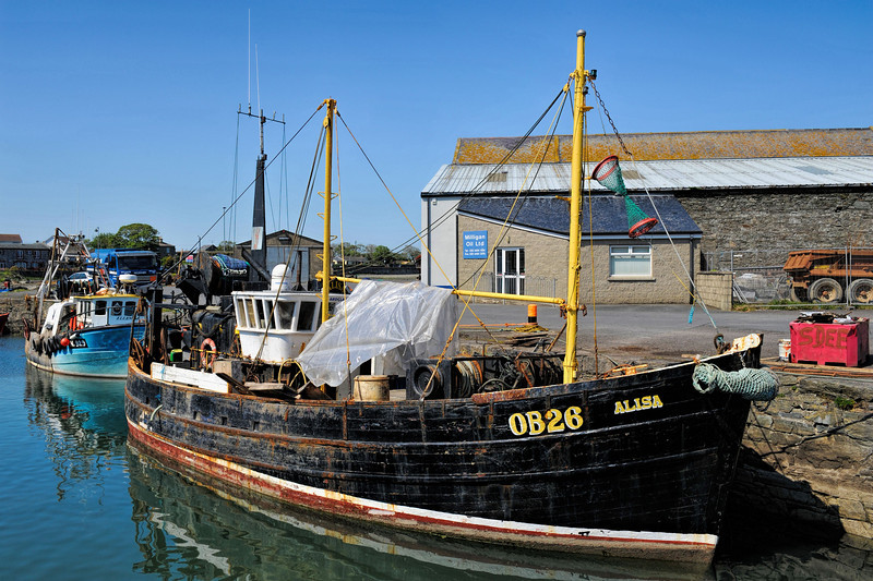 OB26 Alisa, moored at Ardglass harbour, County Down