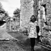 Michelle explores Dungiven Priory, County Londonderry. 18th August 2013