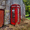 Like the defunct watermill it adjoins, this telephone box has seen better days. Mind you, it still works!