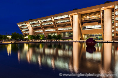"August 10th - ""Dallas City Hall""  Dallas, TX Technical Details: Shot with a Canon 5d Mk2 and a Canon 24-70mm lens at F8 and 15 seconds."