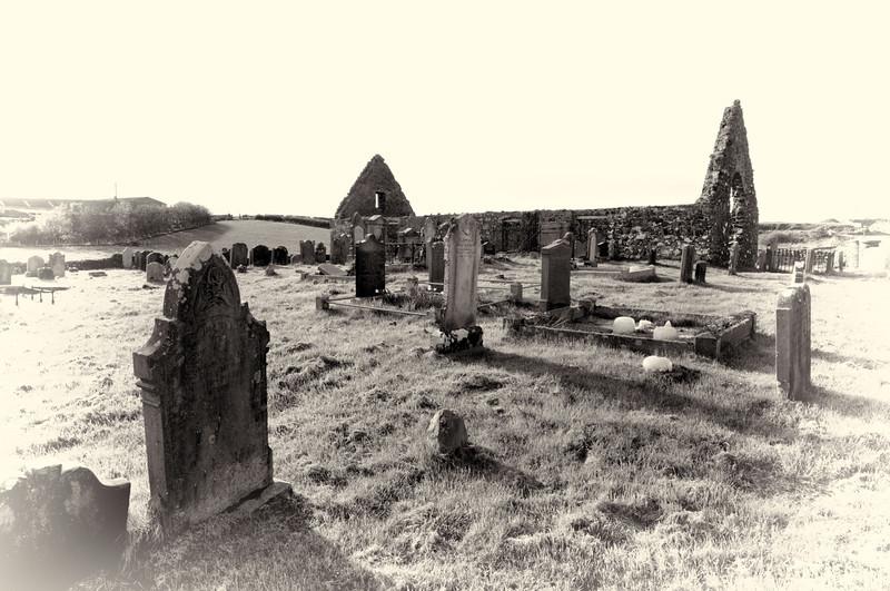 Lonely graveyard, Dunluce, County Antrim