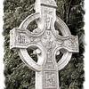 Celtic cross. Layde Church, County Antrim