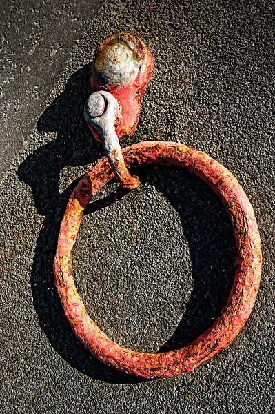 Mooring ring. The harbour, Donaghadee