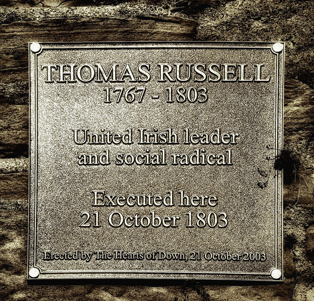 "Thomas Russell, 1767 - 1803. Hanged and beheaded at Downpatrick Gaol, County Down<br /> <br /> <a href=""http://www.devlin-family.com/Russell.htm"">http://www.devlin-family.com/Russell.htm</a>"