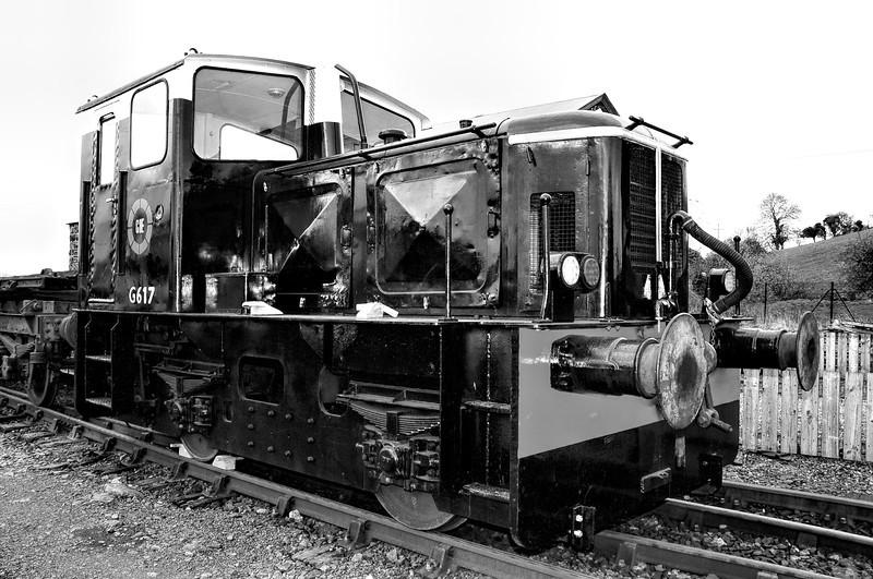 Deutz diesel locomotive G617, seen here in Downpatrick sidings