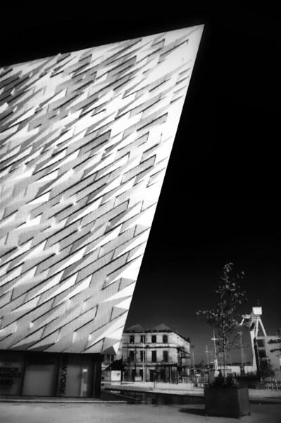 Titanic Centre, Belfast. (Watercolour)