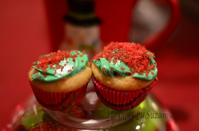 My granddaughter's cupcakes for Santa!