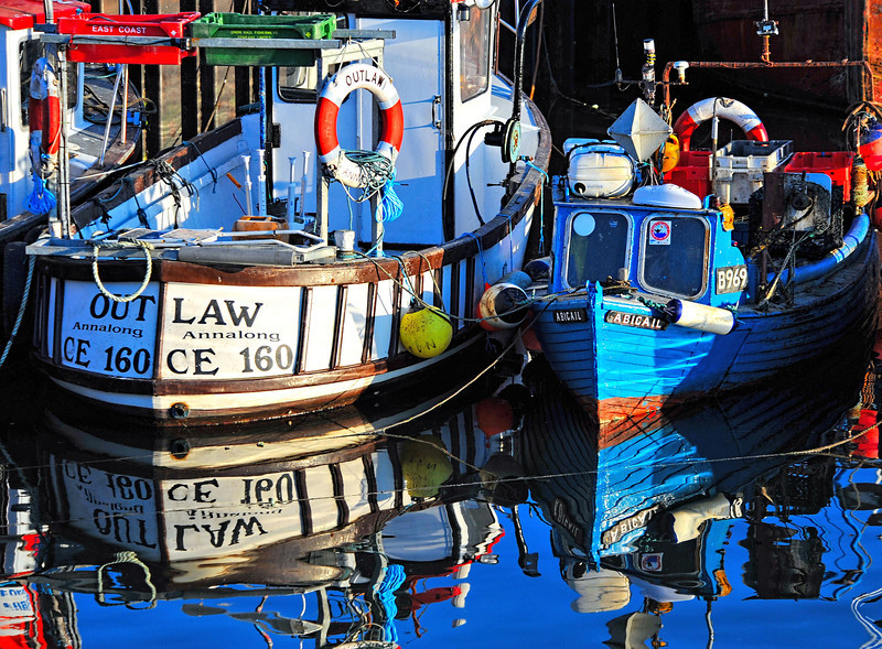 Outlaw and Abigail. Portavogie harbour, 6/6/2013.