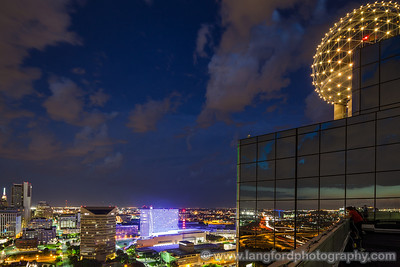 """July 31st - """"Scenic Overlook""""  Dallas, TX While shooting the skyline one right we were lucky enough to have a couple come up to enjoy the view with us. Technical Details: Shot with Canon 5d MK2 and Canon 17mm T&S lens."""
