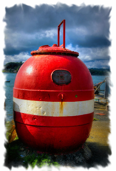M is for Mine - In this case a Naval Sea Mine now in use as a money collection box for the Royal National Lifeboat Institution.<br /> Alphabet Challenge, Letter 'M'<br /> Sunday, 6th October 2013