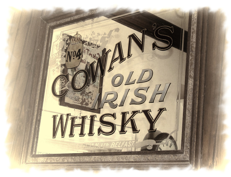 Cowan's Old Irish Whiskey mirror