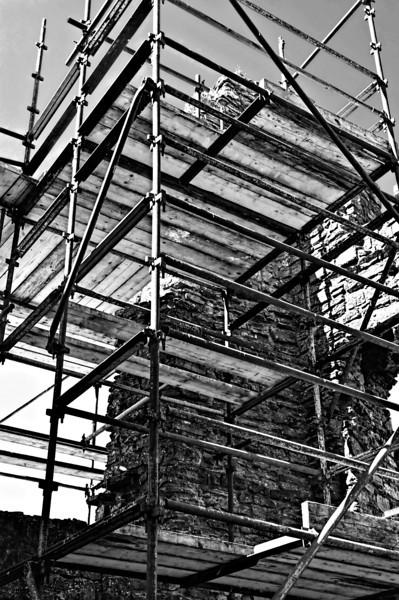 Scaffolding. Castle Caulfield