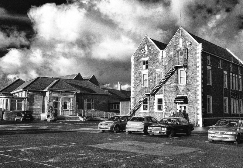 Ards hospital, Newtownards, County Down. The older building to the right of the picture was originally part of the town workhouse. The McKelvey pavilion on the left was demolished during May 2012.