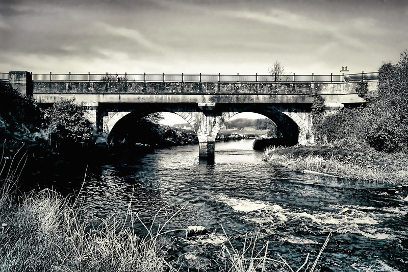 The River Bush at Bushmills. This is the source of the famous 'Old Bushmills Irish Whiskey'