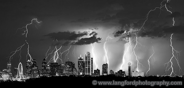 "August 22nd - ""Black and White"" ""I don't often convert my photos to Black and White, but when I do I make sure there is a lot of lightning in the image."" :) Dallas, TX Technical Details: Shot with Canon 5d MK2 and Canon 70-200Llens.  Aperature F5 and shutter speed 5 seconds."