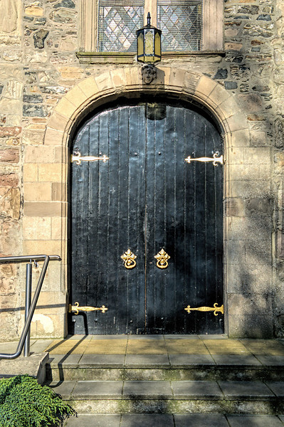 Entrance doors, Bangor Abbey, County Down