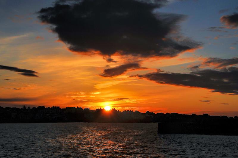 Sunset over Donaghadee, County Down