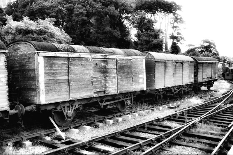 The old brown wagons - Downpatrick railroad, County Down