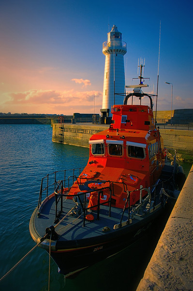 The Lifeboat and Lighthouse in Donaghadee, County Down