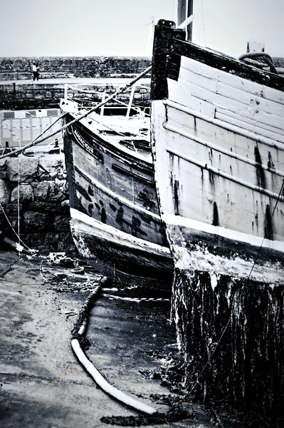 Old boats<br /> Carrickfergus harbour
