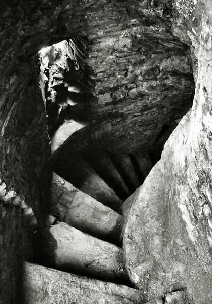 Spiral staircase within Portaferry Castle, County Down.