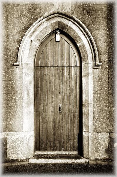Entrance door, Maghera Church of Ireland, County Down