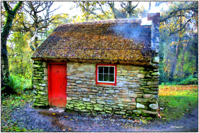 A traditional one room Irish cottage