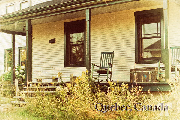 """Quebec coutryside, vintage postcard  * Sorry, I forgot about the """"Q"""" photo for today, so I posted it here."""