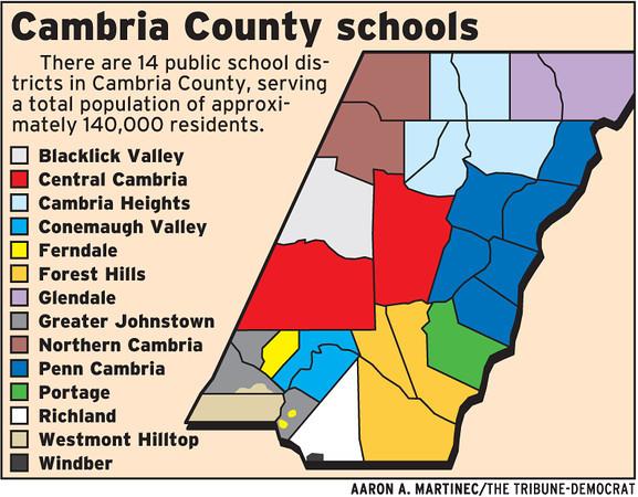The Tribunedemocrat Photo Keywords School Districts Map: Cambria County Pa Map At Slyspyder.com