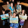Winners of the Pa. Federation of Sportsmen's Clubs annual poster contest.<br /> Dustin Panczak, 11, of Patton; Lindsey Drass, 10, of Dysart; Brianna Johnson, 10, of Patton; and (from left, seated at the table) Cody Stockley, 11, of Carrolltown; Gracie Turnbaugh, 11, of Ashville; Maddelyn Hoover, 11, of Patton; and Takota Miller, 11, of Hastings.