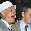 "FILE - In this Dec. 3, 1992 file photo, Jack Klugman, left, and Tony Randall laugh at a news conference announcing that they will reprise their most famous roles as Oscar Madison and Felix Unger respectively, for a one-night benefit performance of Neil Simons play, ""The Odd Couple"", in Beverly Hills, Calif. Klugman, the prolific, craggy-faced character actor and regular guy who was loved by millions as the messy one in TV's ""The Odd Couple"" and the crime-fighting coroner in ""Quincy, M.E.,"" died Monday, a son said. He was 90. (AP Photo/Craig Fujii, File)"