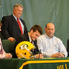 Forest Hills football standout Anthony Unger signs a letter of intent to attend Gannon University.