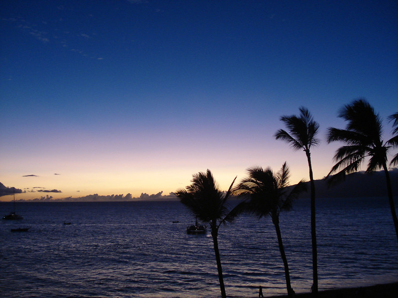 "Hawaiian Sunset - Ka'anapali Coast, Maui<br /> <br /> Daily Photos -  May 20, 2011<br /> <br /> Aloha and Happy Friday!! I hope this shot helps you slow the pace down and enjoy a little ""island time"" this weekend..."