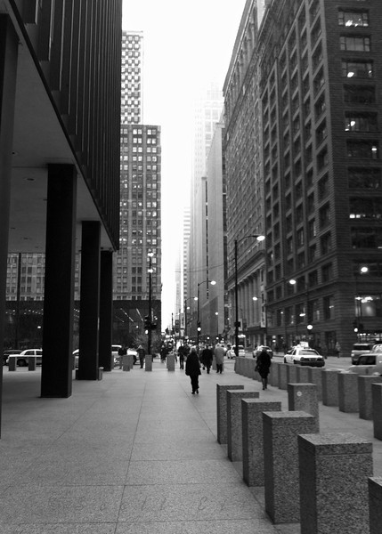 Adams & Dearborn<br /> <br /> Daily Photos  -  11/11/11<br /> <br /> The shot looks a little grainy, but it's actually snow! So not ready  for that yet!