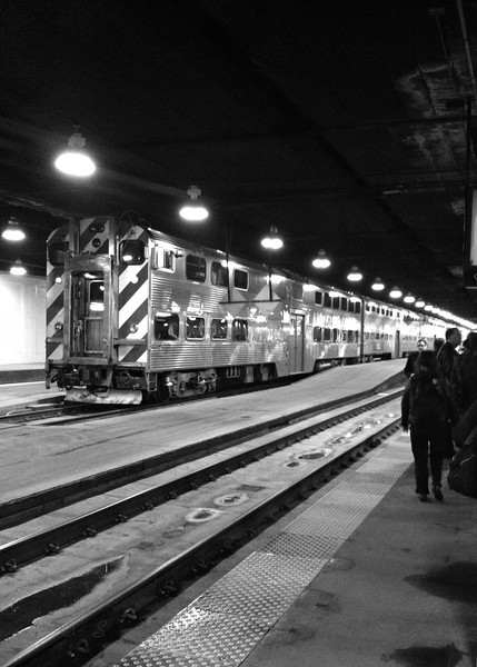 Chicago's Union Station<br /> <br /> Daily Photos  -  November 10, 2011<br /> <br /> Snapped this last night while I was waiting on the platform for my train to pull in.