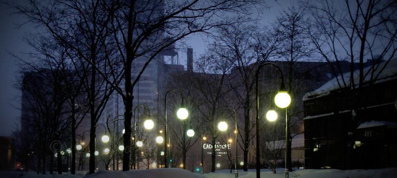 Snowy Courtyard<br /> <br /> Daily Photos  -  January 20, 2012