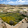 Patchwork farm fields on Gozo produce the majority of the produce consumed in the Maltese Islands