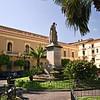 Town Hall dominates St. Antonino Square in Sorrento, Italy