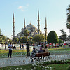 Blue Mosque anchors one end of Sultanahmet Park in the historic center of Istanbul