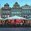 Dining under the stars in the Old Market Square in Poznan, Poland
