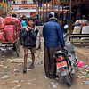 Movings goods through the Kalimati Fruit and Vegetable Market in Kathmandu, Nepal